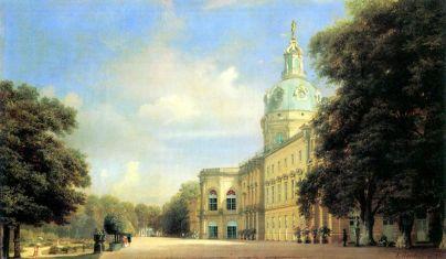 Pałac Charlottenburg - Eduard Gaertner, 1846