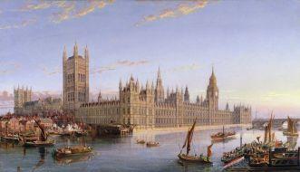 Widok na Westminster z Lambeth - John MacVicar Anderson, 1859