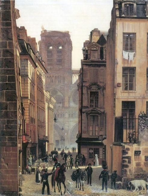 Paryż, ulica Neuve-Notre-Dame - Eduard Gaertner, 1826