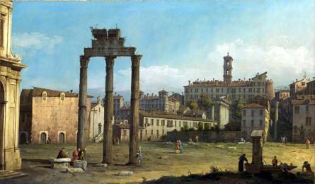 Ruiny Forum, Rzym -Bernardo Bellotto, 1743