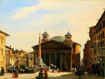 Panteon w Rzymie - Ippolito Caffi