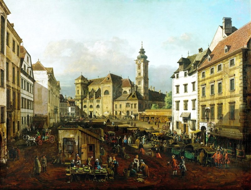 Rynek we Wiedniu - Bernardo Bellotto