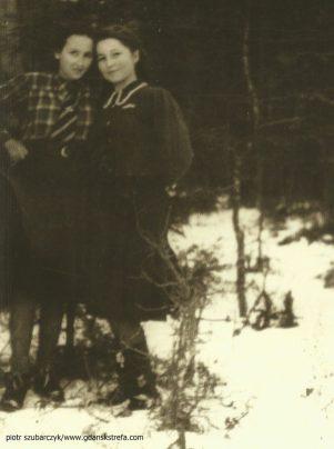 Inka z koleżanką 1945