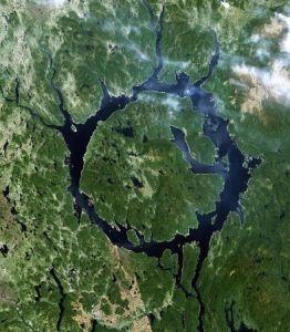 Krater Manicouagan w Kanadzie