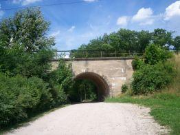 tunel pod trakcja kolejową, z archiwum autorki