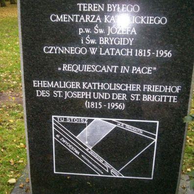 dawny cmentarz św. Brygidy i św.Józefa, z archiwum autorki