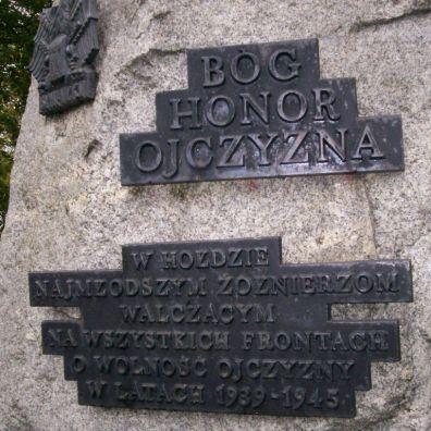 pomnik ku czci najmłodszych żołnierzy, z archiwum autorki