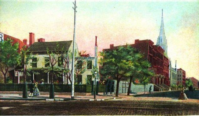 posiadłość Caspara Samlera, 1867; źródło: Wikipedia