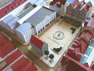Północna część Wyspy - koncepcja przestrzenna Placu Ciesielskiego. S. Michel, T. Miatkowski