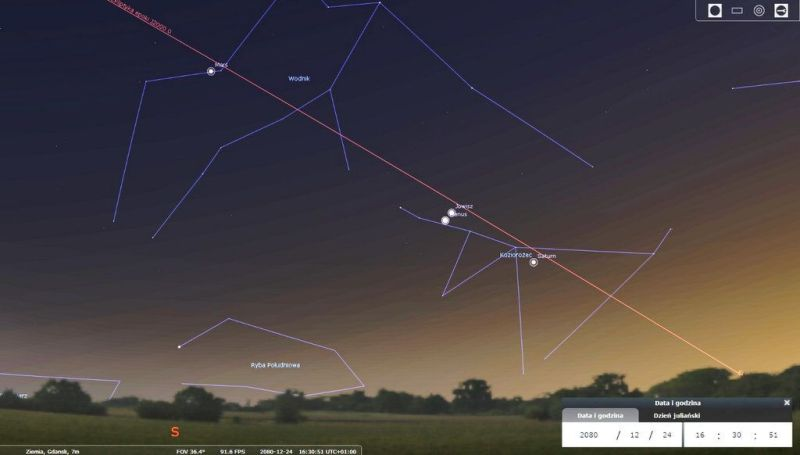 Parada planet podczas Wigilii w 2080 roku