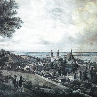 Panorama Bydgoszczy z 1838 r. J.C.Cederholma