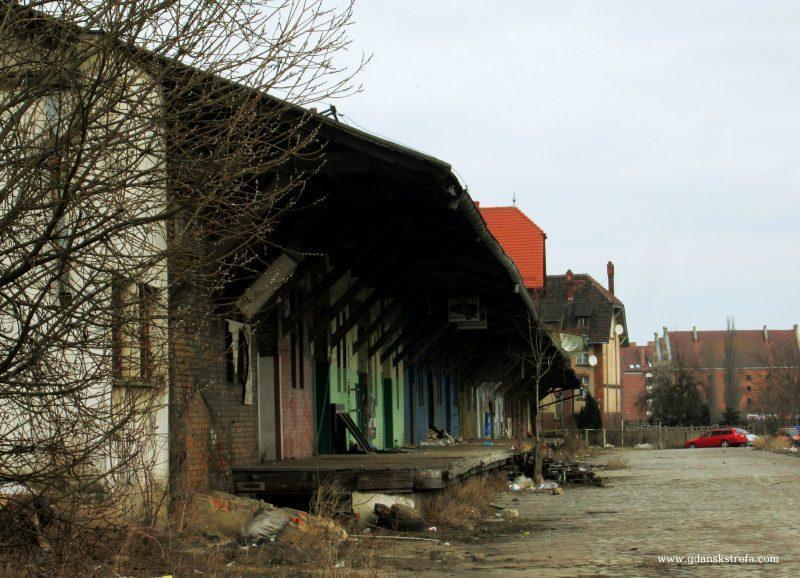 Nieistniejące już resztki dworca Brama Nizinna