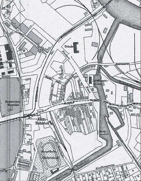 Opływ Motławy, Kneipab, Fragment planu z 1933 r