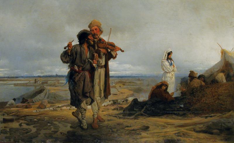 Flisacy nad Wisłą, 1881 r.