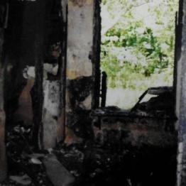 po pożarze; źródło: archiwum Urzędu Miejskiego