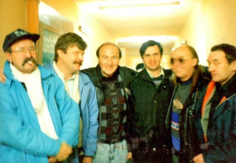 Zbigniew Klewiado (drugi od lewej) wraz z kolegami ze Sky Orunia Fot. archiwum Zbigniewa Klewiado