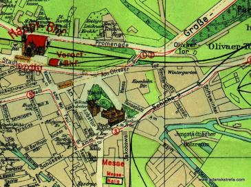 Fragment planu z 1926 roku.