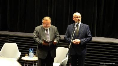 Jacek Pawłowicz, autor wystawy, i Grzegorz Berendt, z-ca dyr. MIIWŚ