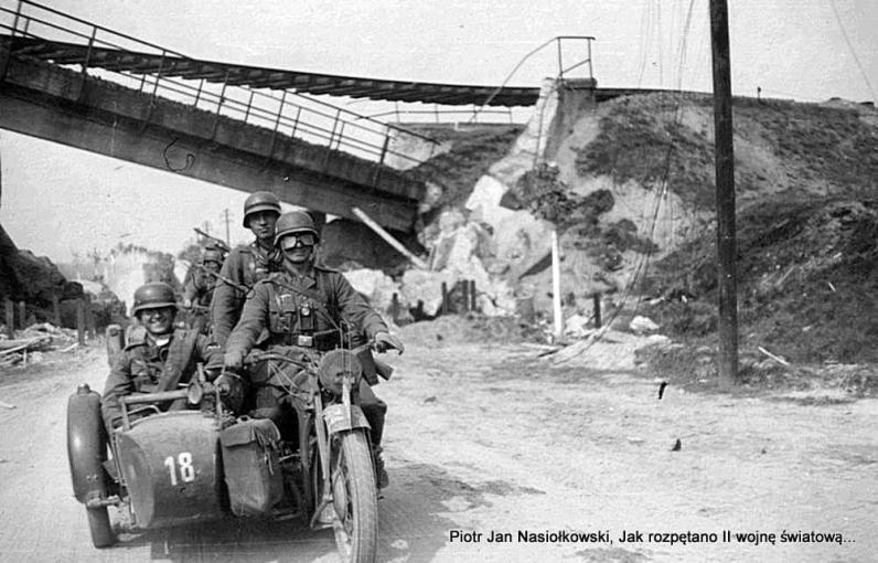 Szpica niemieckiej 18 dywizji piechoty Wehrmachtu