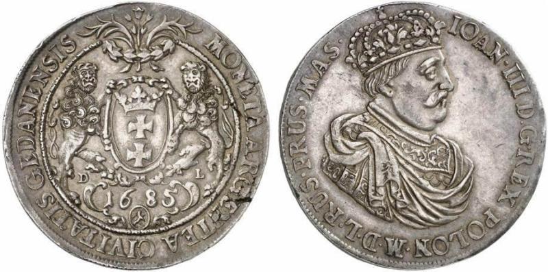 Talar gdański 1685 ex. Künker 206