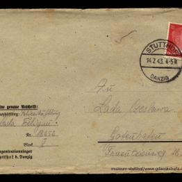 List obozowy wysłany przez Felicjana do matki Czesławy w 1943 r.