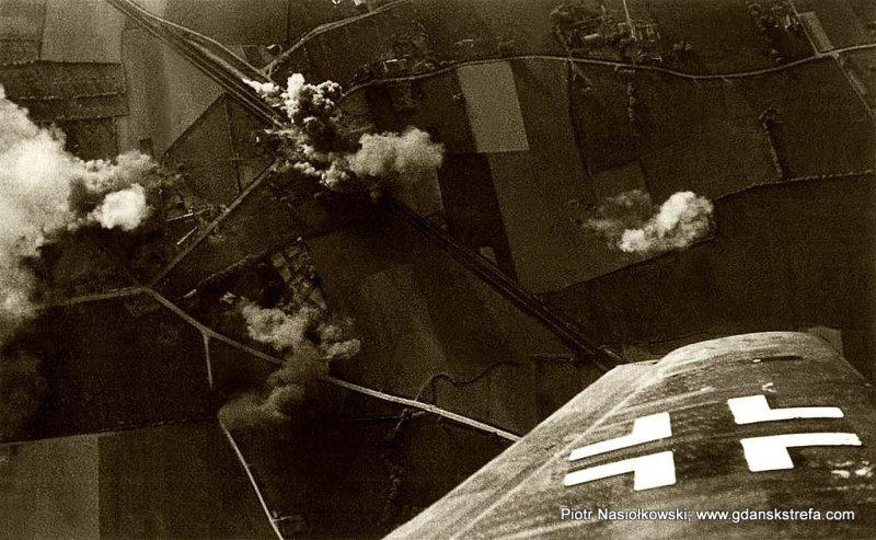 Luftwaffe bombarduje linię kolejową... gdzieś w Polsce