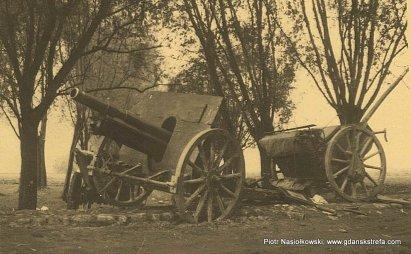 Polska haubica 100 mm wz.19141919 na wyposażeniu III dywizjonu 30. Poleskiego Pułku Artylerii Lekkiej