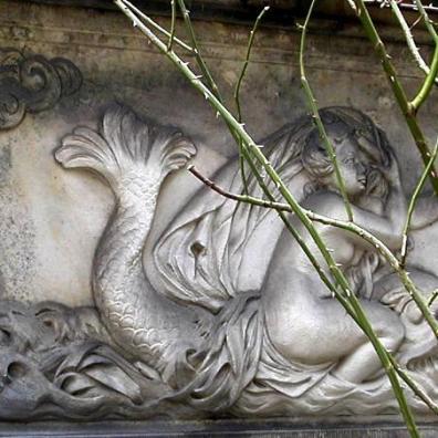 Wenus na delfinie, płyta z ul. Mariackiej