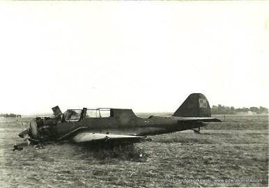 Zestrzelony bombowiec Karaś