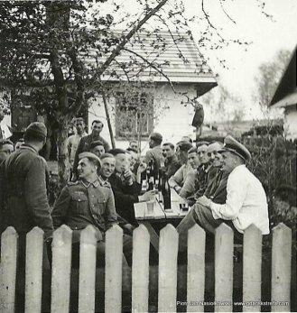 Przyjecie żołnierzy niemieckich w Młodocinie