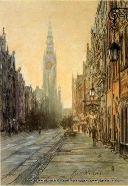 Ulica Długa o świcie