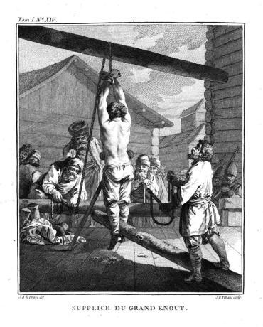 Kara knutów - Jean Baptiste Le Prince, 1765 r.