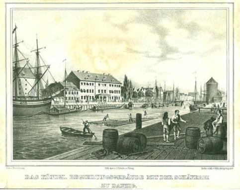 F.E.Meyerheim, litografia 1938 r. Szafarnia nr 9, 10, 11