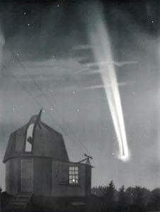 Wielka Kometa 1881 na szkicu Étienne'a Léopolda Trouvelota (1827-1895)