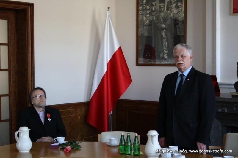 Ryszard Docent Czajkowski i wicewojewoda pan Mariusz Łuczyk