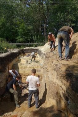 Prace wykopaliskowe w Chmielnie - fot. Z. Ratajczyk