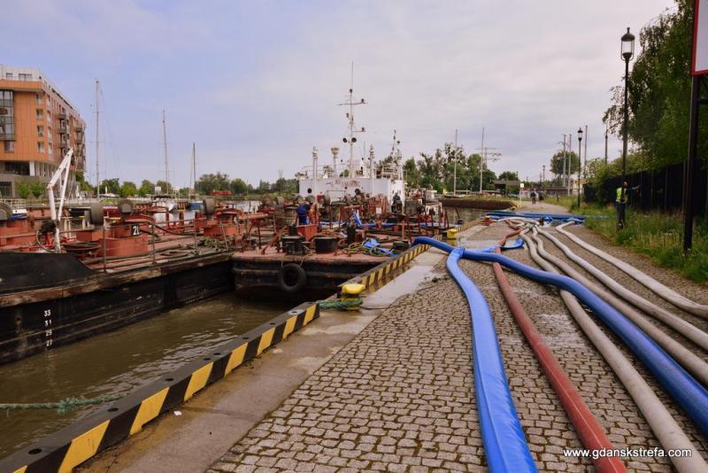 ścieki spływają do Motławy i do barki