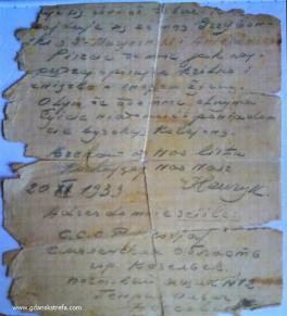 list Henryka Nossowicza z Kozielska 20.11.1939