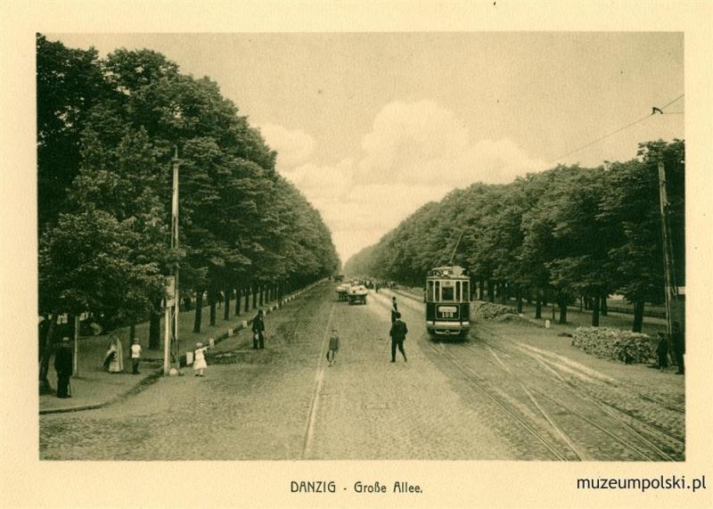 Wielka Aleja, obecnie Aleja Zwycięstwa. Rok 1910
