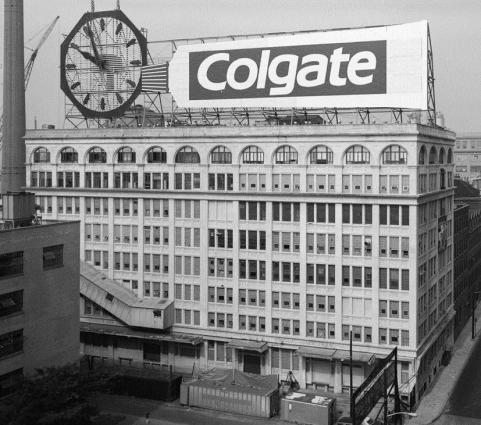 Colgate Clock, oryginalna lokalizacja