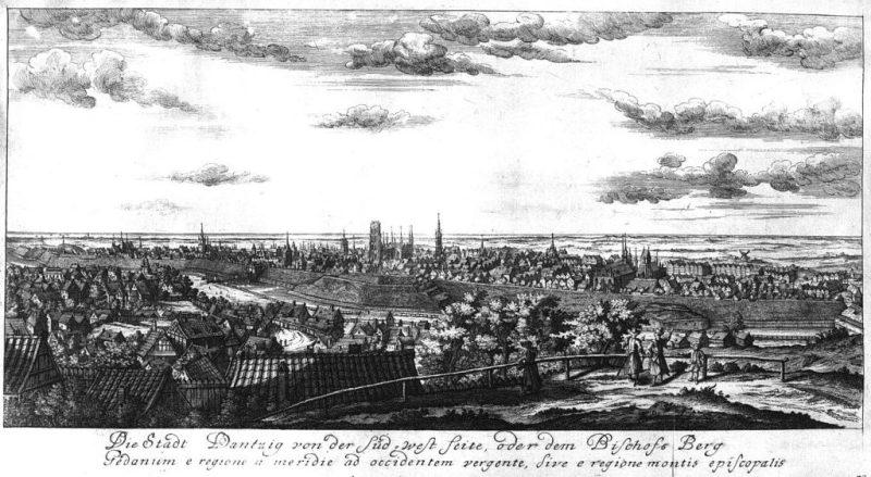 Panorama Gdańska 1715