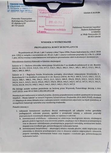 pismo do Nadzoru Budowlanego