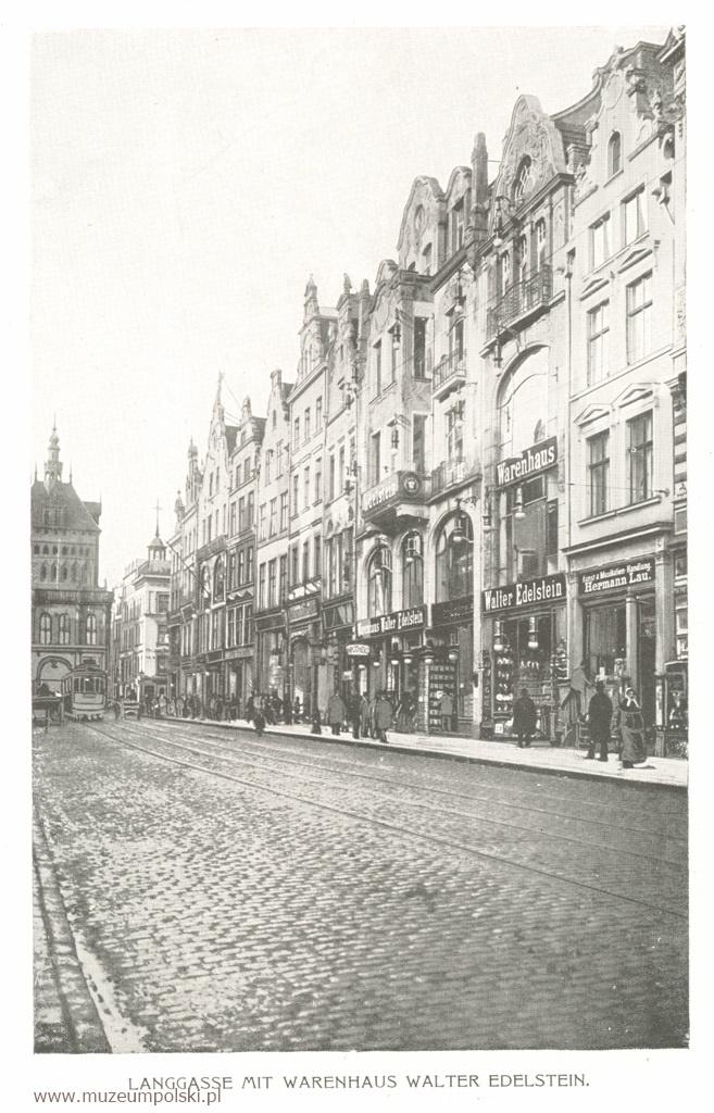 Walter Edelstein Długa, po prawej dom towarowy