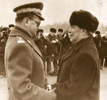 Jaruzelski i Breżniew