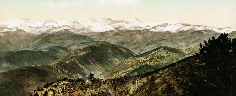 Góry Skaliste w North Park, 1902