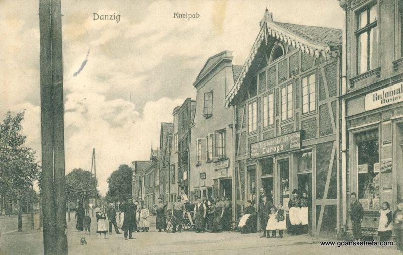 Zabudowania przy Kneipab. Najbardziej okazały budynek mieścił restaurację Europa.