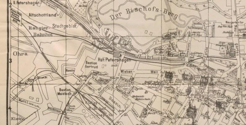 Mapa Zaroślak 1926 rok