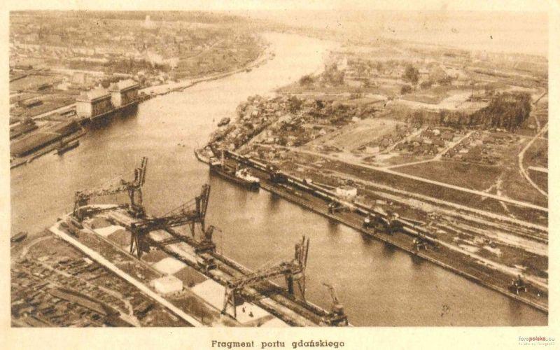 Basen węglowy w latach 20., widok lotniczy