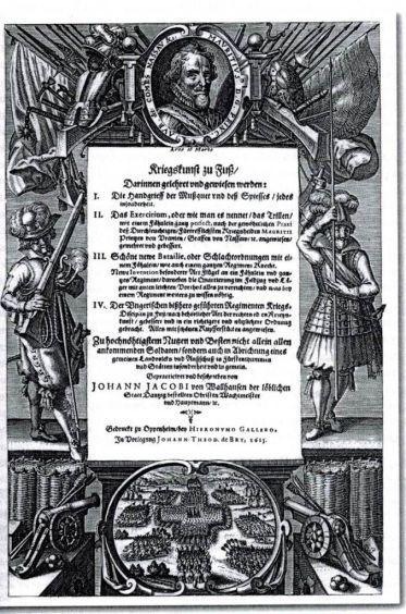 Karta tytułowa dzieła von Wallhausen, Oppeheim 1615
