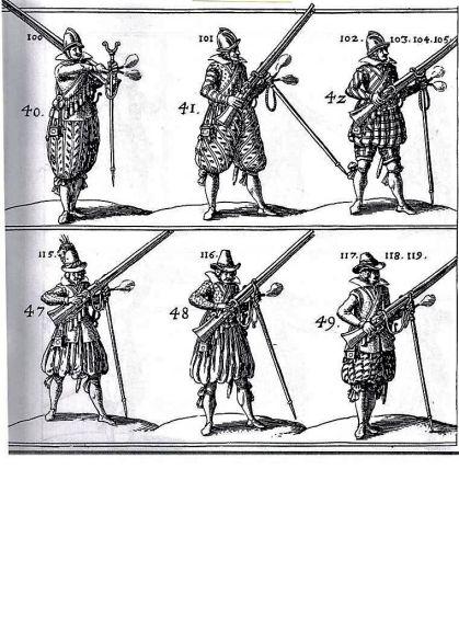 Rysunki ćwiczeń muszkieterów własnoręcznie wykonane przez von Wallhausena